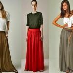 Las faldas largas se imponen esta primavera-verano