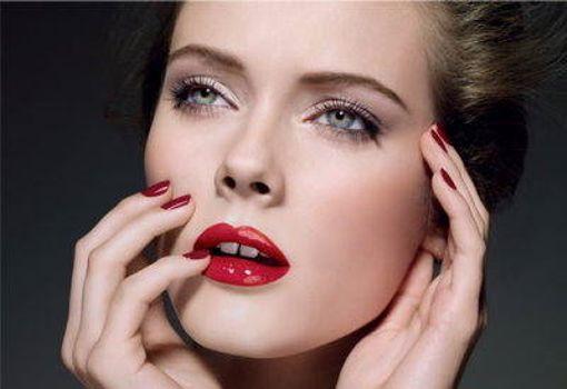 Labios rojos y sensuales